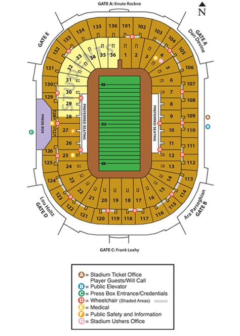 notre dame stadium visitor section is anybody familiar with notre dame stadium seating mgoblog