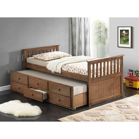 With Trundle Bed by Broyhill Marco Island Captain S Bed With Trundle Bed