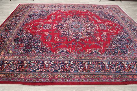 9 x 12 rugs clearance clearance 9x12 floral mashad area rug carpet 11 10 quot x 9 5 quot ebay