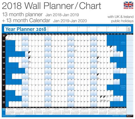 printable holiday year planner 2018 year planner wall chart poster inc 2019 calendar for