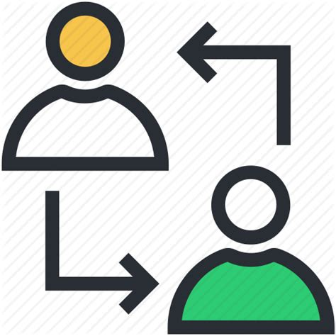 Change Shift by Communication Persons Shift Change Talking Icon