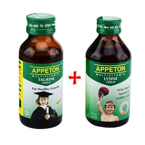 appeton lysine syrup 60 ml appeton taurine syrup 60 ml