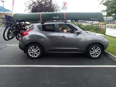 Nissan Juke Luggage Rack by Nissan Juke Able To Carry A 16ft Canoe On Roof Rack