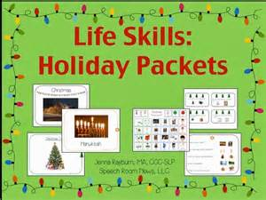 life skills holiday activities speech room news