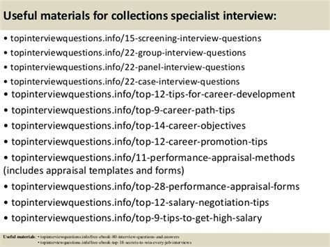 Collections Specialist by Top 10 Collections Specialist Questions And Answers