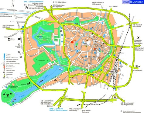 tourist map germany m 252 nster tourist map
