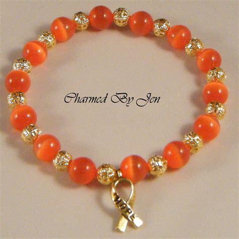 leukemia awareness cat s eye filigree stretch bracelet w
