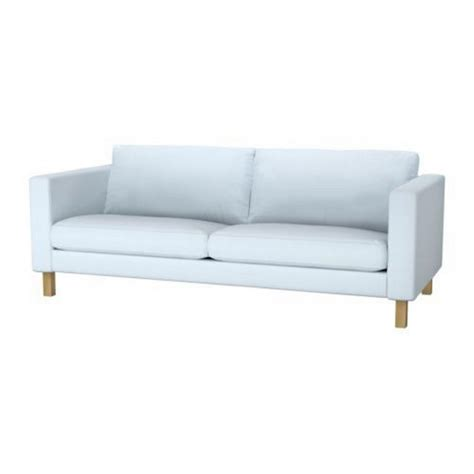 ikea karlstad sofa slipcover cover sivik light blue 3 seat