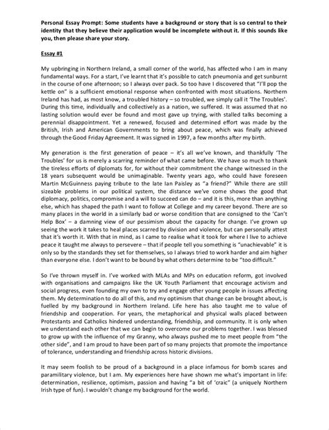Personal College Essay by 9 College Essay Exles Free Pdf Format