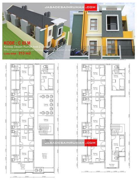 desain kamar kost 2 lantai desain rumah kost 2 lantai terbaru cat rumah minimalis