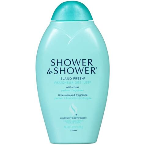 shower to shower bath powder shower to shower island fresh with citrus absorbent