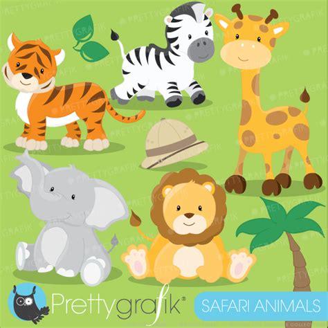 safari jungle baby animal clip art safari animals clipart includes an elephant lion tiger