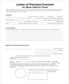 Parental Consent Letter International Travel Sle Consent Form 8 Exles In Word Pdf