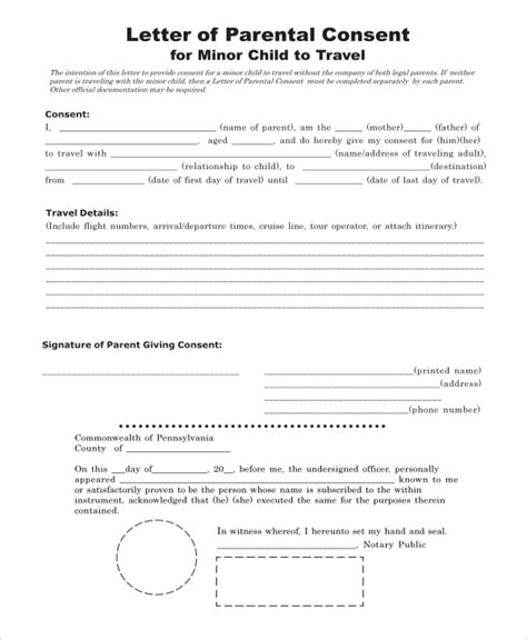authorization letter for minor to travel to mexico child travel consent form child travel consent form