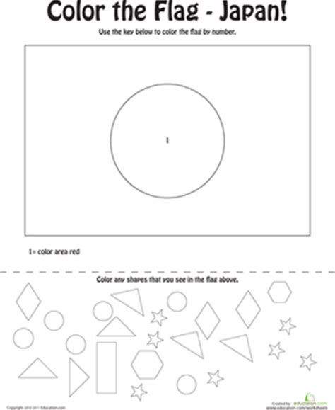 coloring pages of japanese symbols japanese flag coloring page worksheet education com
