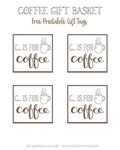 Coffee Print coffee gift basket idea kleinworth co