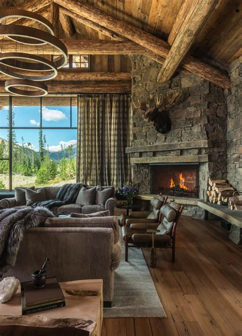 modern rustic home interior design rustic chic mountain home in the rocky mountain foothills