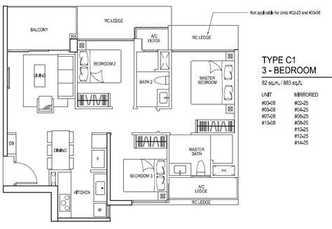 3 bedroom floorplan prospectstation com floor plans for inz residence ec choa chu kang mrt station
