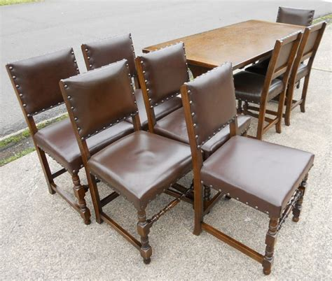 set of eight tudor style dining chairs matching dining