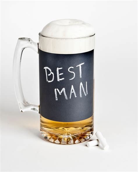 best man gifts best man wedding gifts beer mug chalkboard onewed com
