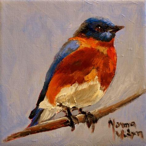 birds painting norma wilson original bluebird bird painting