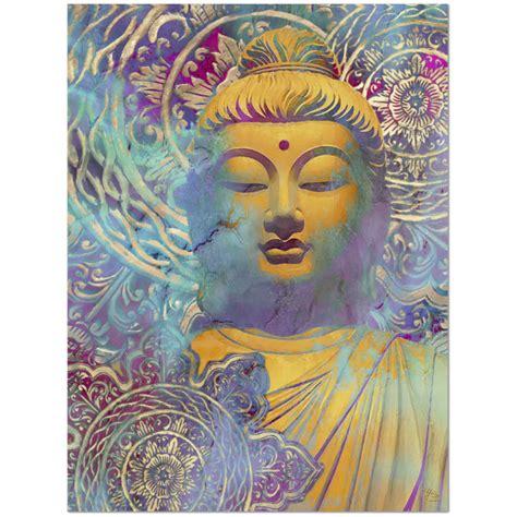 colorful buddha colorful buddha canvas modern zen decor the light