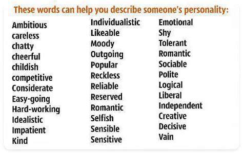 describing adjectives my