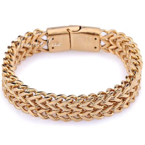 Gelang Rantai Kotak Bracelet Chain Titanium 316l aliexpress beli 12 mm hitam silver nada emas ganda foxtail kotak link mens rantai 316l