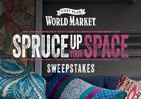 World Market Sweepstakes - world market s spruce up your space sweepstakes win a 5 000 world market
