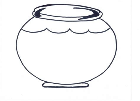 coloring page of a fish bowl empty fish bowl clipart clipground