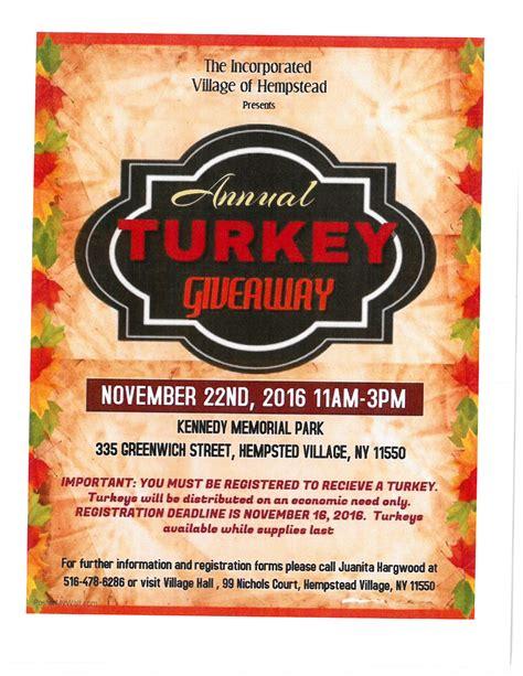 Turkey Giveaway - hempstead ny