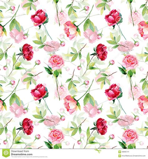 How To Make Wrapping Paper Flowers - seamless pattern with pink peonies leaves stock