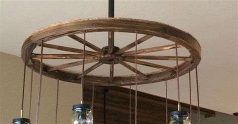Wagon Wheel Chandelier Mason Jars New House Wagon Wheel Ceiling Fan