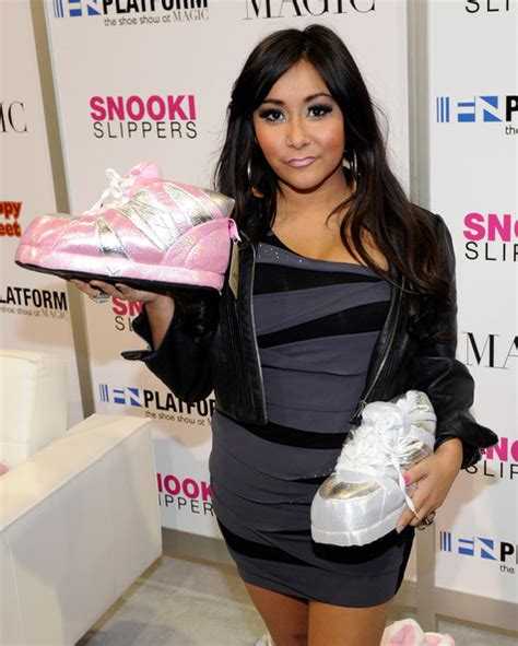snooki house shoes nicole polizzi in nicole quot snooki quot polizzi promotes snooki slippers line at magic