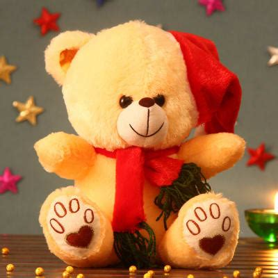 yellow soft christmas gift huggable yellow teddy soft gift send gifts l11053378 igp