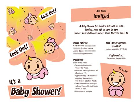 invite for baby shower at work casey bishop my work other fun stuff