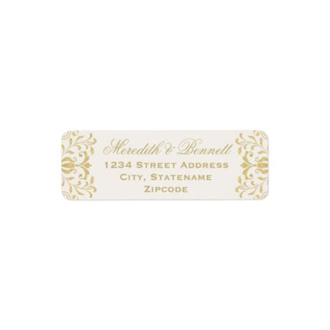 return address labels wedding invitations gold vintage glamor return address labels luxury wedding