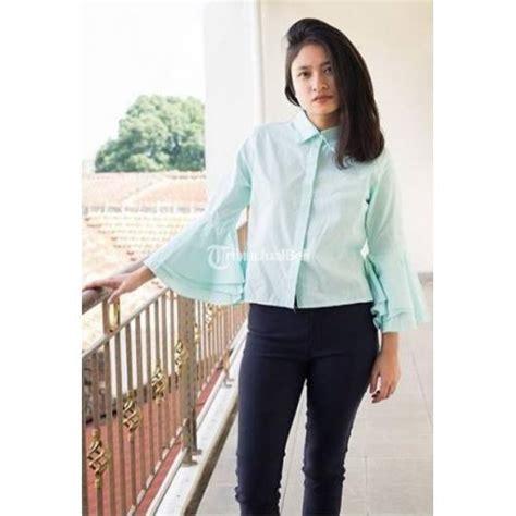 Atasan Dress Sabrina Anak Murah baju atasan wanita zwetta trompet crop katun terbaru harga