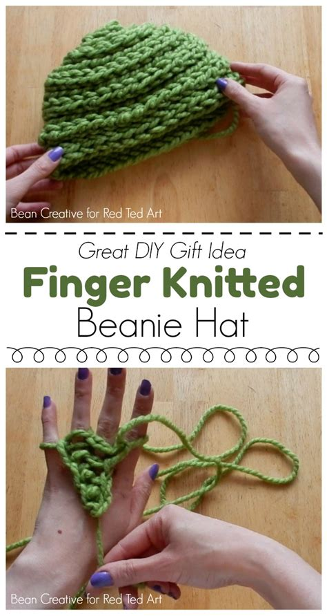 how do you finish a knitting project how to finger knit a beanie hat diy ted s