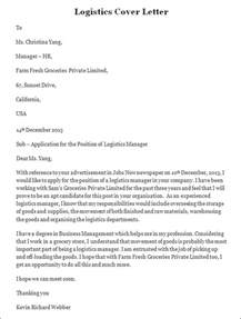 Logistics Analyst Cover Letter by Sle Logistics Cover Letter Logistics Cover Letter Template Sle Templates