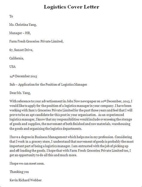 Samples Of Cover Letters For Internships