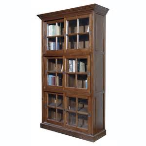 Real Wood Bookshelves Furniture Classics Single Stack Sliding Door Solid Oak