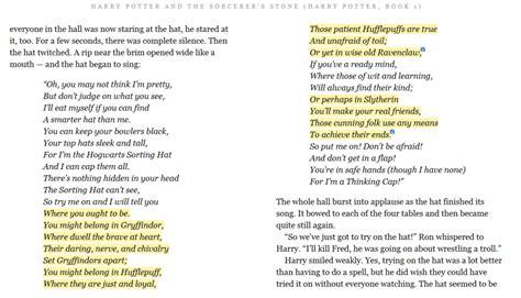 harry potter poem harry potter and the sorcerer s chapter 7