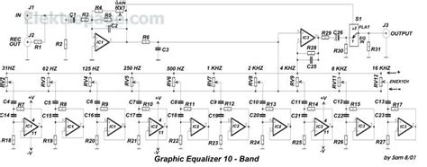 Pcb Equalizer 10channel vaccum equalizer schematic diyaudio