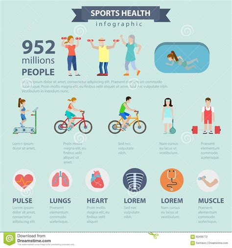 sport fitness a guide to a healthier lifestyle books sports health healthy lifestyle vector flat infographics
