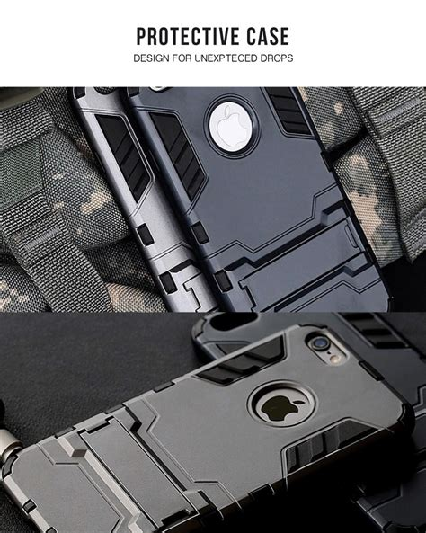 Huawei P9 Lite Rugged Armor Soft Stand Back Cover Casing huawei p9 lite protective with kick stand armor x