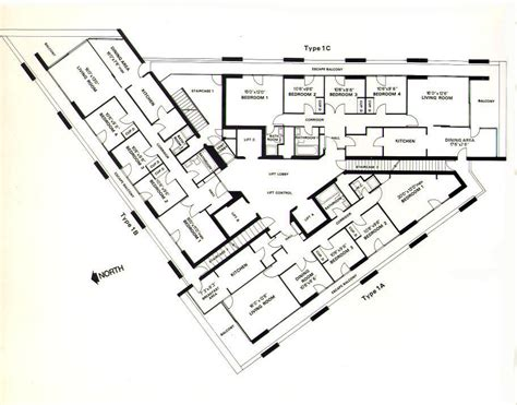 flat plan type 1c barbican living