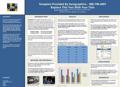 powerpoint academic poster template templates for scientific poster