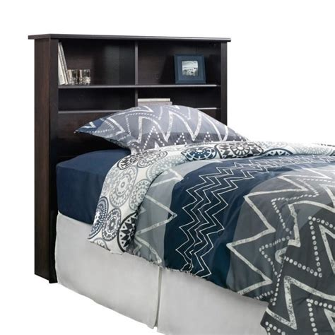 black headboard twin twin bookcase headboard in estate black 419449
