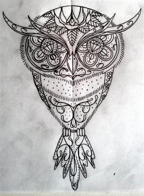 owl and sugar skull tattoo images of sugar skull owl search owls